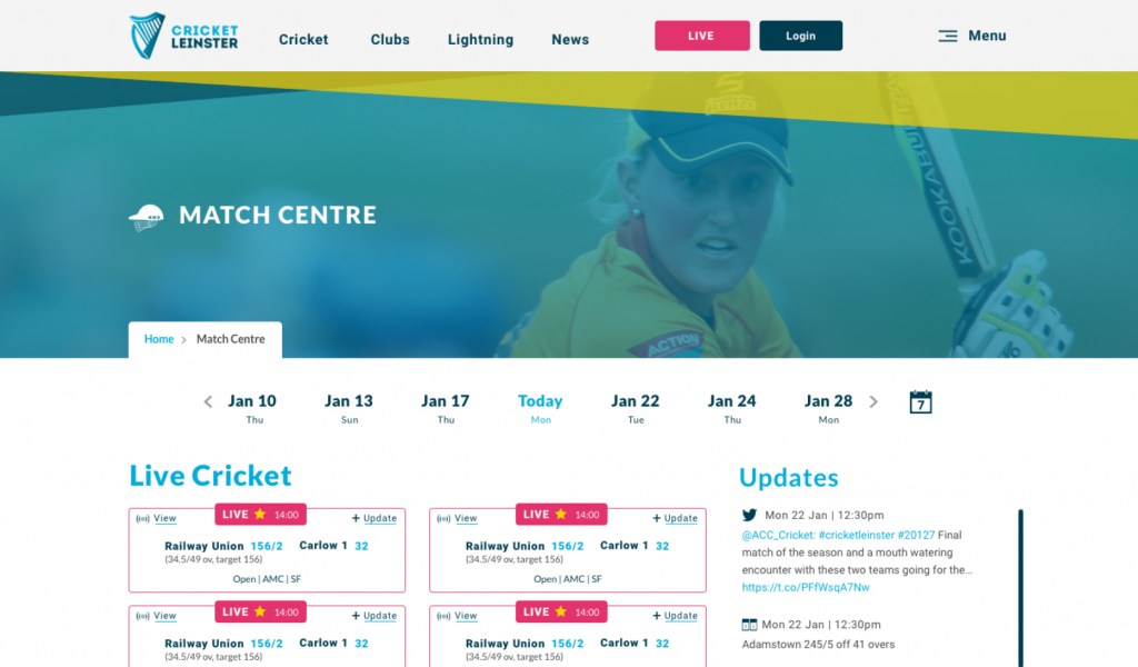 Cricket Leinster teams up with CricClubs